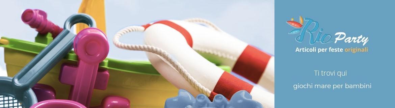 Giochi mare per bambini, secchielli, braccioli, gonfiabili