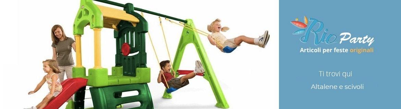 Altalene e scivoli per bambini, giochi all'aperto