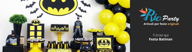 Festa Batman, decorazioni, addobbi e allestimenti del Cavaliere Oscuro