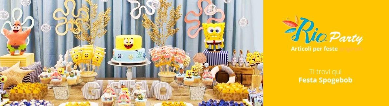 Festa Spongebob, allestimenti e decorazioni per compleanno