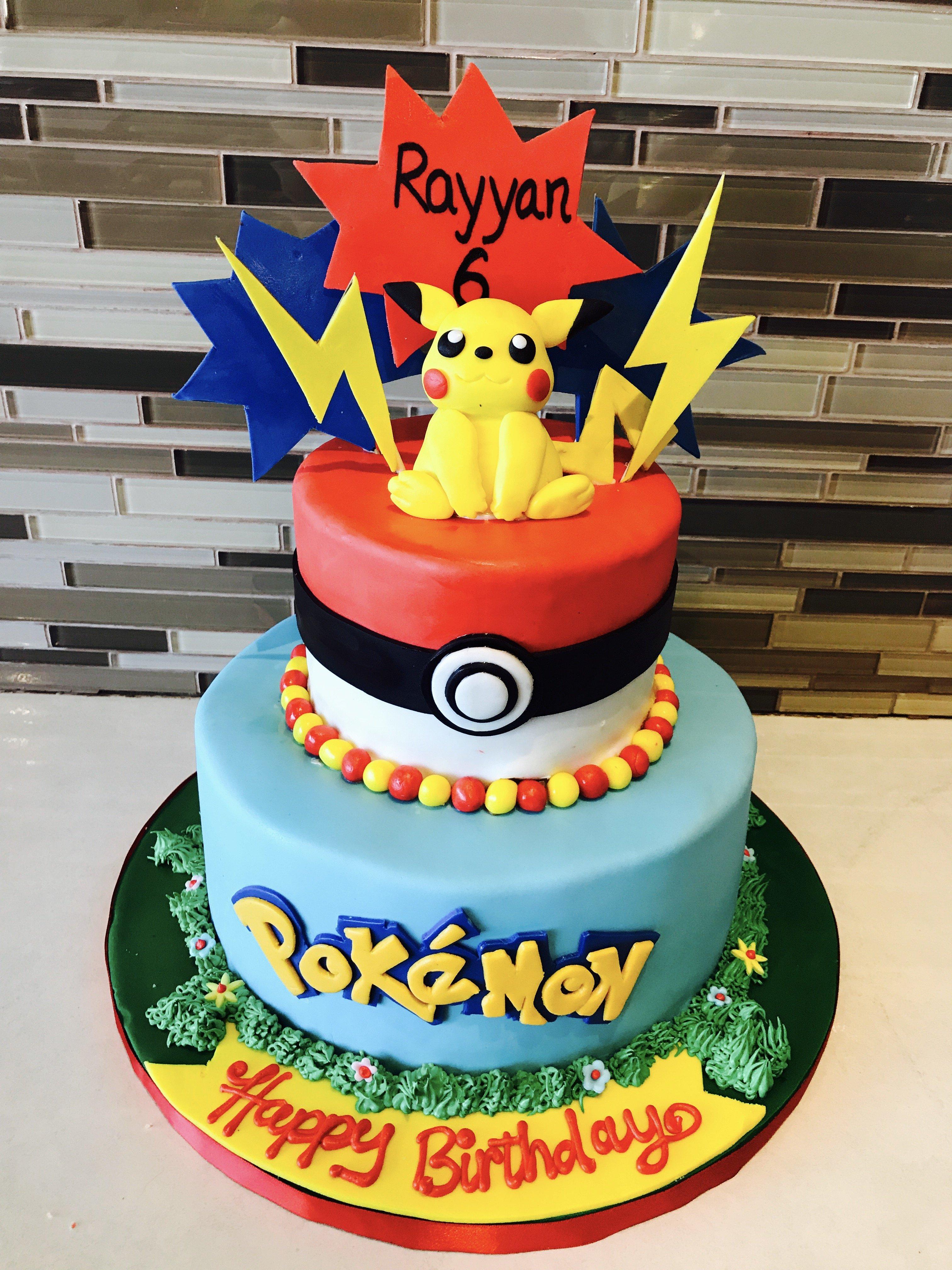 torta pokemon pasta da zucchero